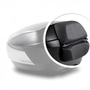 Top case SHAD SH48 Dark grey with backrest, carbon cover and PREMIUN SMART lock