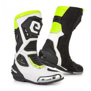 Buty motocyklowe Eleveit SP-01 biało-czarno-fluo żółte
