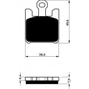 Brake pads GOLDFREN 200 S3 (4pcs in kit)