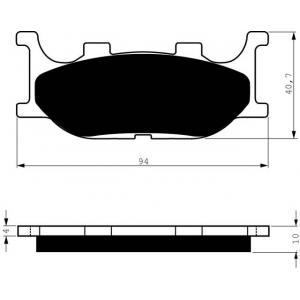 Brake pads GOLDFREN 099 S3