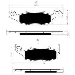 Brake pads GOLDFREN 104 S3