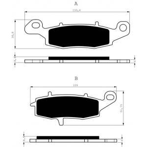 Brake pads GOLDFREN 124 S3