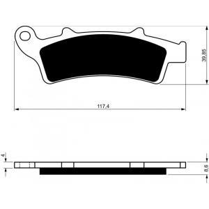 Brake pads GOLDFREN 193 S3