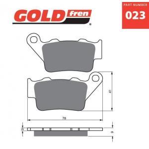 Brake pads GOLDFREN 023 S3