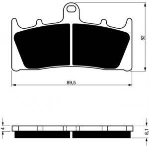 Brake pads GOLDFREN 039 S33 STREET FRONT