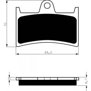 Brake pads GOLDFREN 070 S33 STREET FRONT