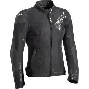 Damska kurtka motocyklowa IXON Luthor czarno-biała wyprzedaż