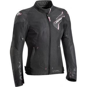 Damska kurtka motocyklowa IXON Luthor czarno-różowa wyprzedaż