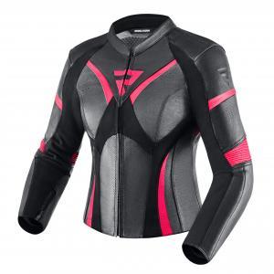 Damska skórzana kurtka motocyklowa Rebelhorn Rebel czarno-różowa