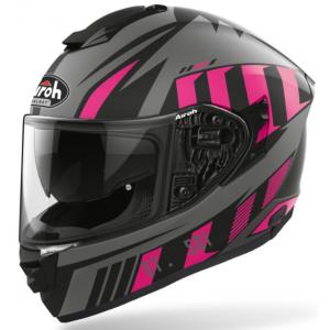 Damski integralny kask motocyklowy Airoh ST 501 Blade czarno-szaro-różowy wyprzedaż
