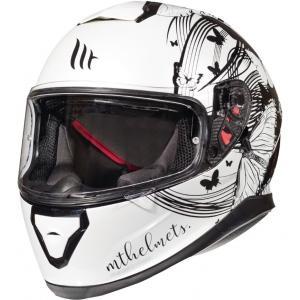 Damski integralny kask motocyklowy MT Thunder 3 SV Vlinder biało-czarny