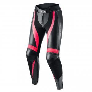 Damskie skórzane spodnie motocyklowe Rebelhorn Rebel czarno-różowe
