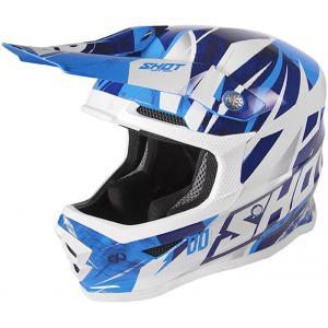 Dziecięcy kask motocrossowy Shot Furious Ventury niebiesko-biały wyprzedaż