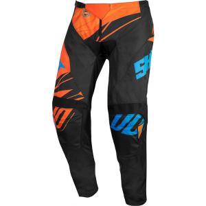 Dziecięce motocrossowe spodnie Shot Devo Ventury czarno-pomarańczowo-niebieskie