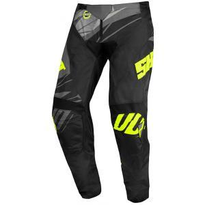Dziecięce motocrossowe spodnie Shot Devo Ventury czarno-szaro-fluo żółte
