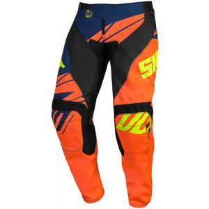 Dziecięce motocrossowe spodnie Shot Devo Ventury pomarańczowo-niebiesko-fluo żółte