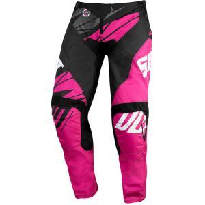 Dziecięce motocrossowe spodnie Shot Devo Ventury różowo-czarno-białe