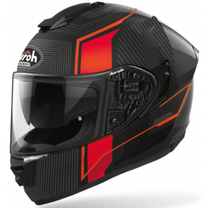 Integralny kask motocyklowy Airoh ST 501 Alpha czarno-szaro-czerwony wyprzedaż