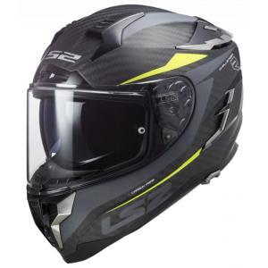 Integralny kask motocyklowy LS2 FF327 Challenger C Drone czarno-fluo żółty