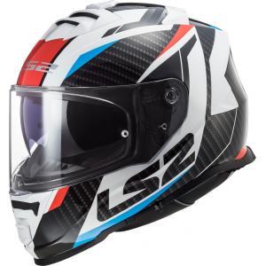 Integralny kask motocyklowy LS2 FF800 Storm Racer czarno-biało-czerwono-niebieski