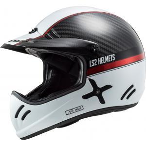Motocrossowy kask LS2 MX471 Xtra Yard biało-czarno-czerwony