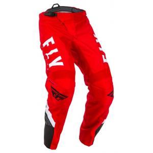 Motocrossowe spodnie FLY Racing F-16 2020 czerwono-czarno-białe