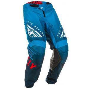 Motocrossowe spodnie FLY Racing Kinetic K220 niebiesko-biało-czerwone