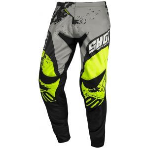 Motocrossowe spodnie Shot Contact Shadow szaro-czarno-fluo żółte