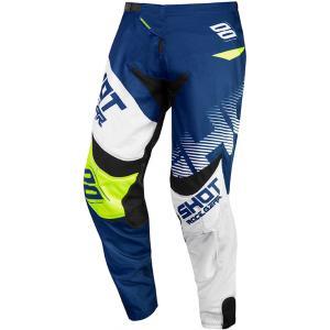 Motocrossowe spodnie Shot Contact Trust niebiesko-biało-fluo żółte wyprzedaż