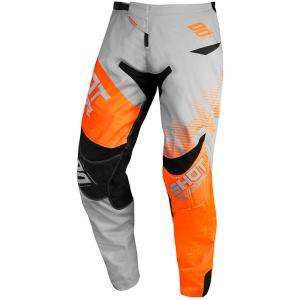Motocrossowe spodnie Shot Contact Trust szaro-czarno-fluo pomarańczowe