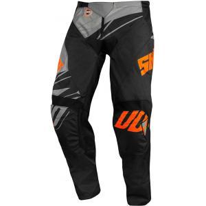 Motocrossowe spodnie Shot Devo Ventury czarno-szaro-fluo pomarańczowe