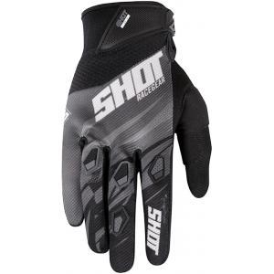 Motocrossowe rękawice Shot Devo Ventury czarno-biało-szare