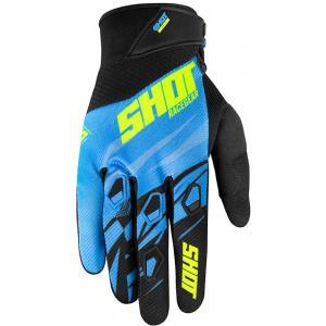 Motocrossowe rękawice Shot Devo Ventury niebiesko-czarno-fluo żółte wyprzedaż
