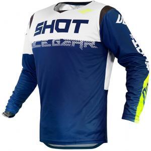 Motocrossowa koszulka Shot Contact Trust niebiesko-biało-fluo żółta wyprzedaż