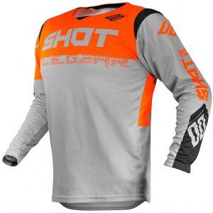 Motocrossowa koszulka Shot Contact Trust szaro-czarno-fluo pomarańczowa