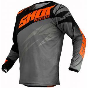 Motocrossowa koszulka Shot Devo Ventury czarno-szaro-fluo pomarańczowy wyprzedaż