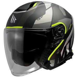 Otwarty kask motocyklowy MT Thunder 3 SV Bow czarno-szaro-fluo żółty