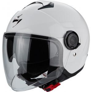 Otwarty kask motocyklowy Scorpion EXO-CITY Solid biały