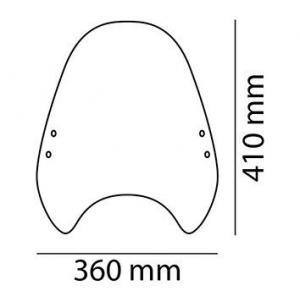 Windshield PUIG CUSTOM II 0336W transparent universal