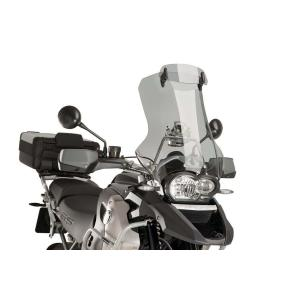 Multiadjustable visor PUIG 6007H fixed by screws smoke