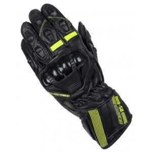 Rękawice motocyklowe Ozone RS-600 czarno-fluo żółte