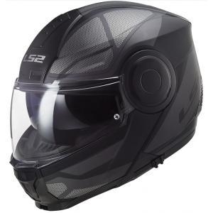 Szczękowy kask motocyklowy LS2 FF902 Scope Axis czarno-tytanowy