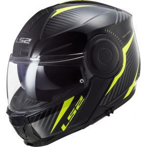 Szczękowy kask motocyklowy LS2 FF902 Scope Skid czarno-fluo żółty