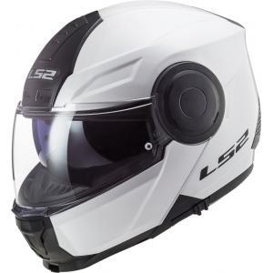 Szczękowy kask motocyklowy LS2 FF902 Scope Solid biały