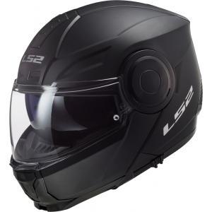 Szczękowy kask motocyklowy LS2 FF902 Scope Solid czarny matowy