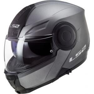 Szczękowy kask motocyklowy LS2 FF902 Scope Solid tytanowy matowy