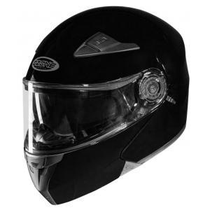 Szczękowy kask motocyklowy Ozone Wind czarny