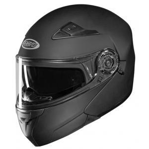 Szczękowy kask motocyklowy Ozone Wind czarny matowy