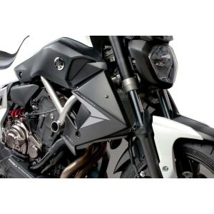 Radiator side panels PUIG 7561J matt black stickers included