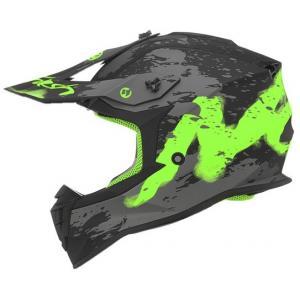 Dziecięcy kask motocrossowy NOX N632K Trash czarno-szaro-zielony